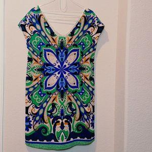 Anthropologie Maeve  Bird Print Shift Dress
